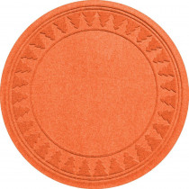 Aqua Shield Orange 35 in. Round Pine Trees Under the Tree Mat