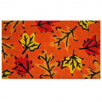 Home & More Fall Leaves 17 in. x 29 in. Coir Door Mat