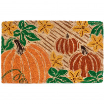 Entryways Pumpkin Patch 18 in. x 30 in. Coir Door Mat