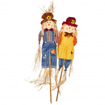 5 ft. Scarecrow on Pole (Set of 2)