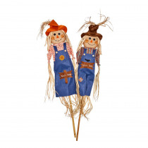 60 in. Whooos There Scarecrow on Pole (Set of 2)