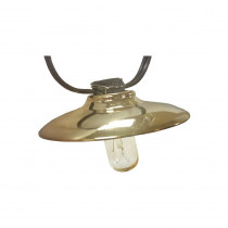Bel Air Lighting 10-Light 126 in. String Light with Polished Copper Canopy
