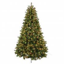 7.5 ft. Bavarian Mixed Pine Artificial Christmas Tree with 650 UL Lights