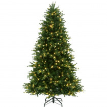 7.5 ft. Pre-Lit LED Natural Noble Fir Artificial Christmas Tree with Color Changing Lights