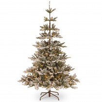 7.5 ft. Feel Real Snowy Imperial Blue Spruce Hinged Artificial Tree with LED Lights