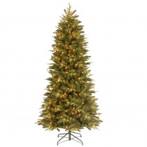 7.5 ft. Feel-Real Pomona Pine Slim Artificial Christmas Tree with 400 Clear Lights