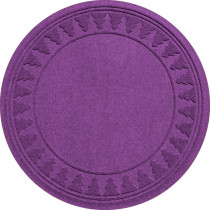 Aqua Shield Purple 35 in. Round Pine Trees Under the Tree Mat