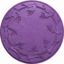 Aqua Shield Purple 35 in. Round Reindeer Run Under the Tree Mat