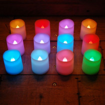 Lumabase 1.5 in. H Color Changing Votive LED Candle (Set of 12)