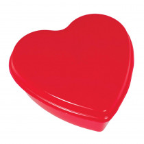 Amscan 7.75 in. x 7.75 in. x 3 in. Valentine's Day Heart Shaped Red Plastic Box (5-Pack)