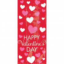 Amscan 11.5 in. x 5 in. x 3.25 in. Happy Valentine's Day Large Cello Bag (20-Count 5-Pack)