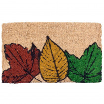 Entryways Fallen Leaves 18 in. x 30 in. Coir Door Mat