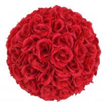 9.8 in. Wine Red Flower Ball Wedding Decoration