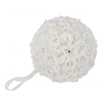 9.8 in. White Flower Ball Wedding Decoration