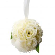 4.7 in. Ivory Cream Rose Ball Wedding Flower Decoration (Ball Flower)
