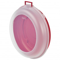 Sterilite Red Plastic Nesting Wreath Box