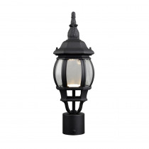 Design House Canterbury II 13.2-Watt 1-Light Outdoor Black Integrated LED Post Light