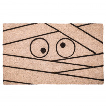 Entryways Mummy 17 in. x 28 in. Non-Slip Coir Door Mat