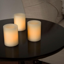 Lavish Home 2.5 in. H Vanilla LED Votive Flameless Wax Candle Set (8-Piece)