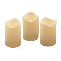 Lumabase 4.5 in. Pillar LED Candle (Set of 3)
