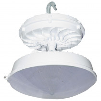 Radiance 169-Watt White Integrated LED Indoor High Bay with Conical Lens
