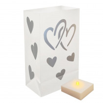 LumaLite Luminaria Kit in Hearts (6-Count)