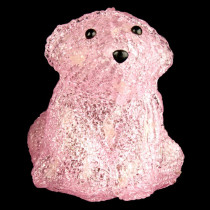 XEPA 6 in. Decorative Pink Baby Bear Sitting LED Light