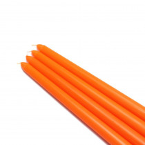 Zest Candle 12 in. Orange Taper Candles (12-Set)