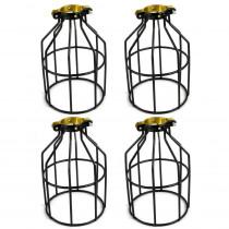 Adamax Metal Lamp Guard for String Light and Lampholder (4-Pack)
