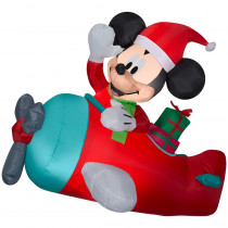 Airblown Holiday 4.50 ft. W Pre-Lit Hanging Inflatable Mickey in Plane Scene