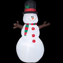 Airblown 5 ft. H x 8 ft. W Inflatable Snowman with Christmas Scarf and Hat