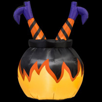 Airblown 2 ft. W x 3 ft. H Witch Legs Inflatable in the Cauldron