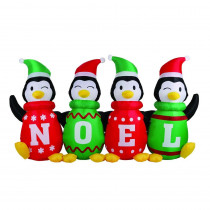 Airflowz 6 ft. Inflatable Sweater Penguins