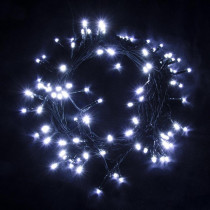 Aleko 34 ft. 100-Light LED White Electric Powered String Lights (Lot of 2)