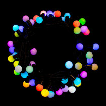 Aleko 19.5 ft. 50-Light LED Multicolor Electric Powered String Lights (Lot of 2)