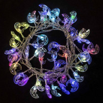 Aleko 19.5 ft. 50-Light LED Multi-color Electric Powered String Lights (Lot of 2)