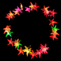 Aleko 30-Light LED Multi-Color Solar Powered Starfish String Lights