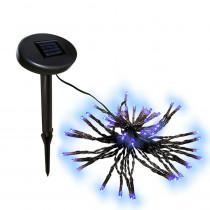 Aleko 60 LED Blue Solar Powered String Lights