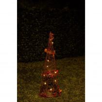 Alpine Christmas Rattan Light-up Cone Tree Decor