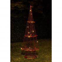 Alpine 23 in. H Rattan Light-up Christmas Tree Decor