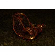 Alpine Christmas Rattan Light-up Sleigh Decor