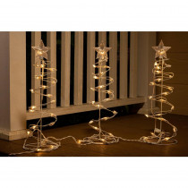 Alpine 18 in. H Christmas Spiral Tree Decor with Lights