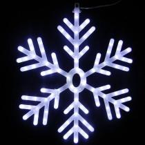 Alpine 25 in. 102-Light White LED Hanging Snowflake Decor