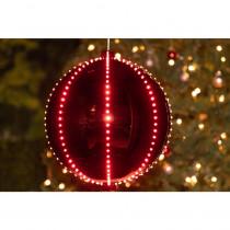 Alpine Xmas Ball Ornament with 240 Chasing LED Lights (Plug In)
