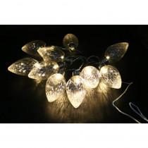 Alpine 10-Light LED Light Bulbs Faceted Clear Decorative String Lights Decor (Set of 10)