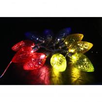 Alpine 10-Light LED Light Bulbs with Multi-Color Decorative String Lights (Set of 10)