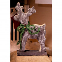 Alpine Christmas Reindeer Statue