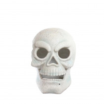 Alpine 16 in. Skull with 2 Red LEDs and Motion Sensor- Battery Operated