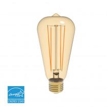 Euri Lighting 40W Equivalent Warm White (2200K) ST19 Dimmable Amber LED Light Bulb