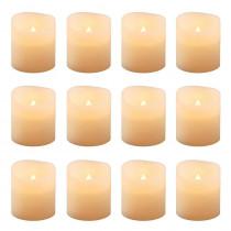 Lumabase 1.5 in. Amber Votive LED Candle (Set of 12)